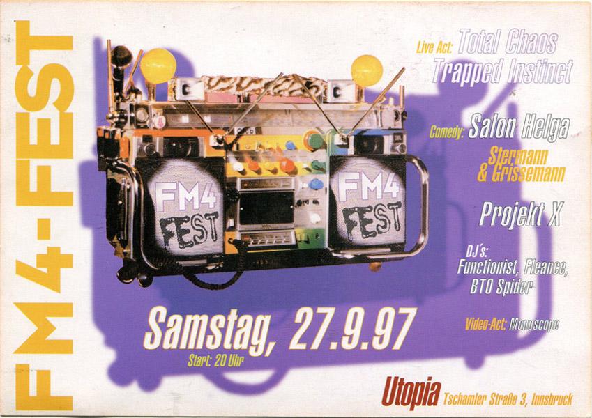 1997-09-27_Utopia_Total Chaos_Trapped Instinct_Grissemann und Stermann