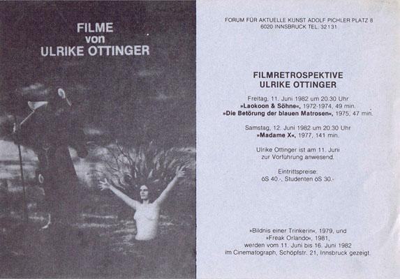 cinematograph - 1982-06-11 - ulrike ottinger