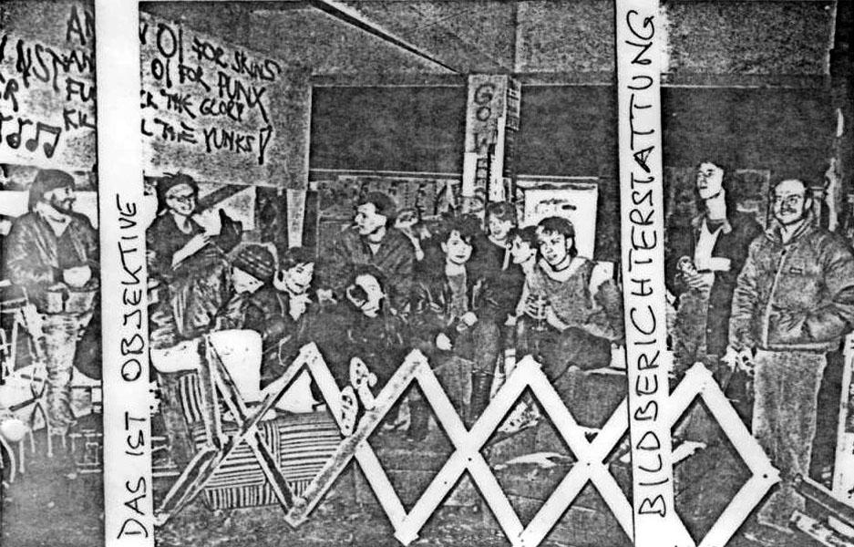 """""""komm in"""" im Betongarten nach der Schliessung im März 1985"""