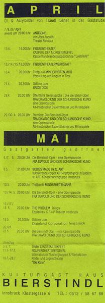 1994-04-01-bierstindl programmflyer