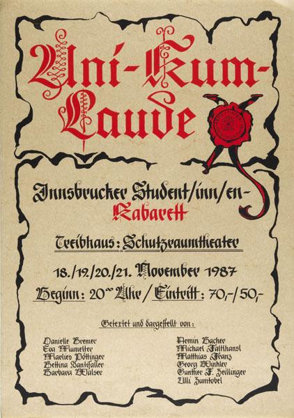 1987-11-18 - treibhaus - uni kum laude
