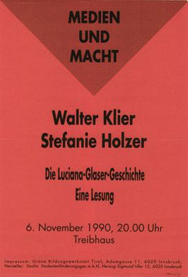 1990-11-06-treibhaus-klier-holzer-lesung
