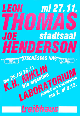 1985-11-27 - stadtsaal - treibhaus - leon thomas - joe henderson