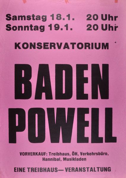 1986-01-18 - konservatorium - treibhaus - baden powell
