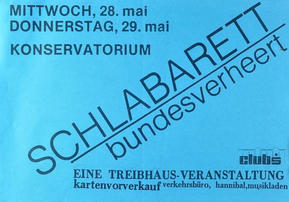 1986-05-28 - konservatorium - treibhaus - schlabarett
