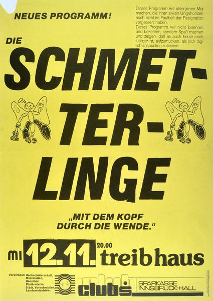 1986-11-12 - treibhaus - schmetterlinge