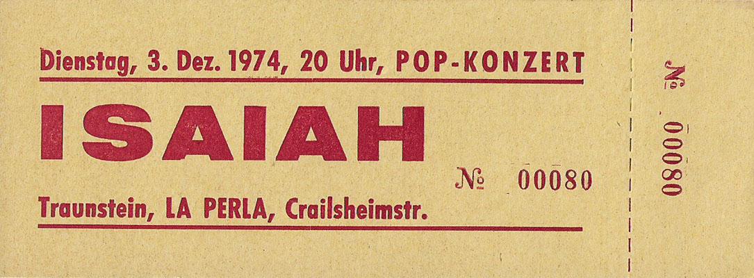1974-12-03-isaiah-traunstein eintrittskarte