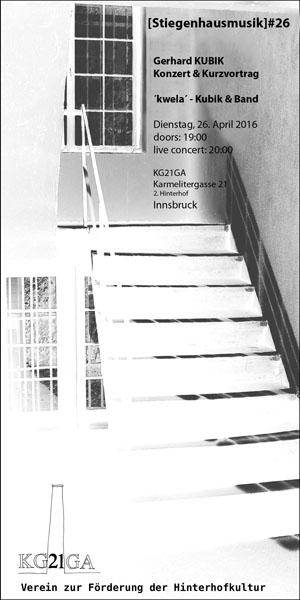 stiegenhausmusik #26 - flyer