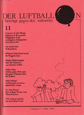Der Luftballon Nr. 11 - November 1982