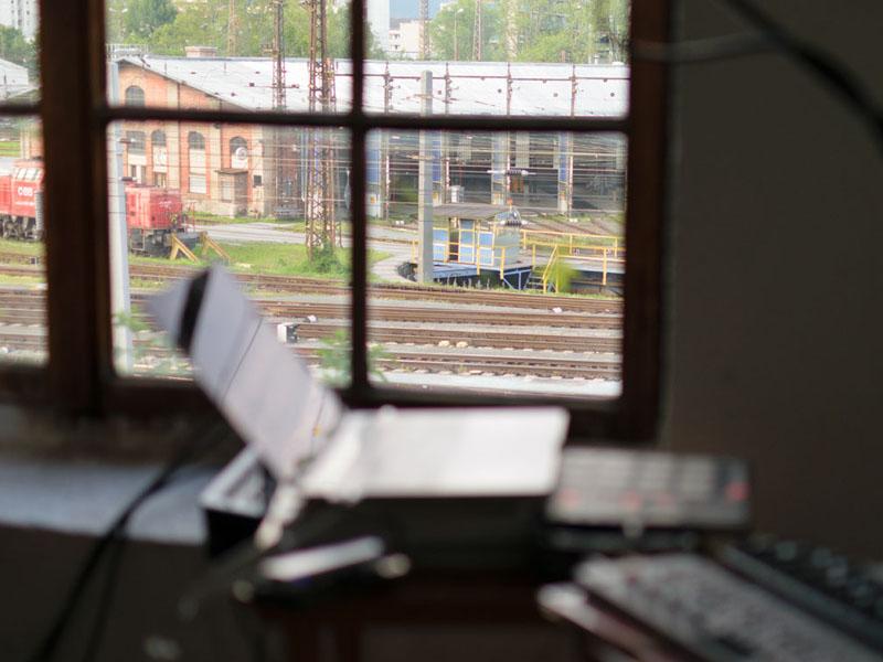Blick aus dem Stiegenhausfenster