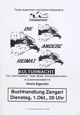 tak_1991-10-01_buchhandlung zangerl_tak kulturnacht