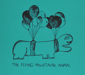 the flying moustache animal