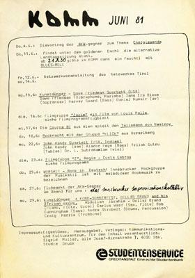 komm programm 1981-06-01