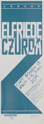 bogen 13 - 1988-08-06 - lesung elfriede czurda