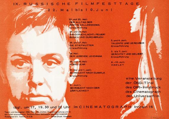cinematograph IX russische filmtage 1976
