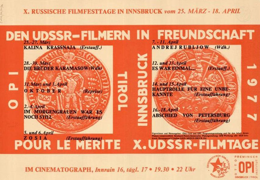 cinematograph X russische filmtage 1977