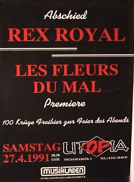 1991-04-27-utopia - rex royal - les fleurs du mal