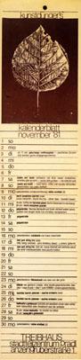 treibhaus flyer - 1981-11-01 - programm