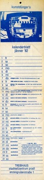 treibhaus flyer - 1982-01-01 - programm