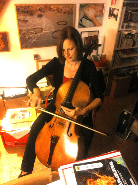 Anja Lechner im Atelier Span/Warum
