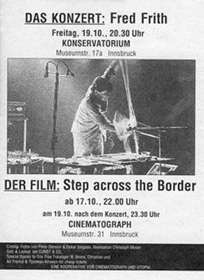 cinematograph - 1990-10-19 - fred frith