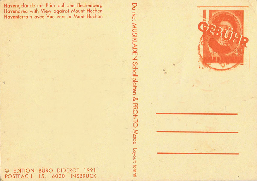 haven postkarte rückseite