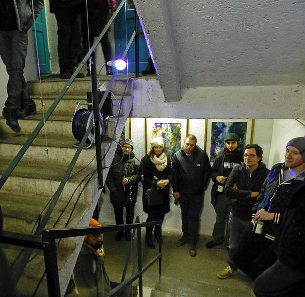 Gäste im Stiegenhaus