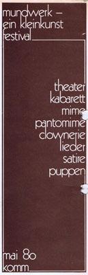 komm mundwerk festival mai 1980