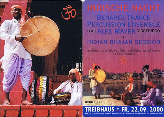 treibhaus flyer - 2000-09-22 - indische nacht